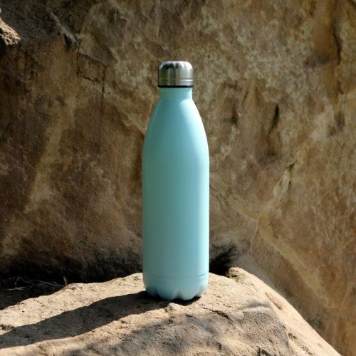 Fém termosz kulacs - világos kék - BioDoras
