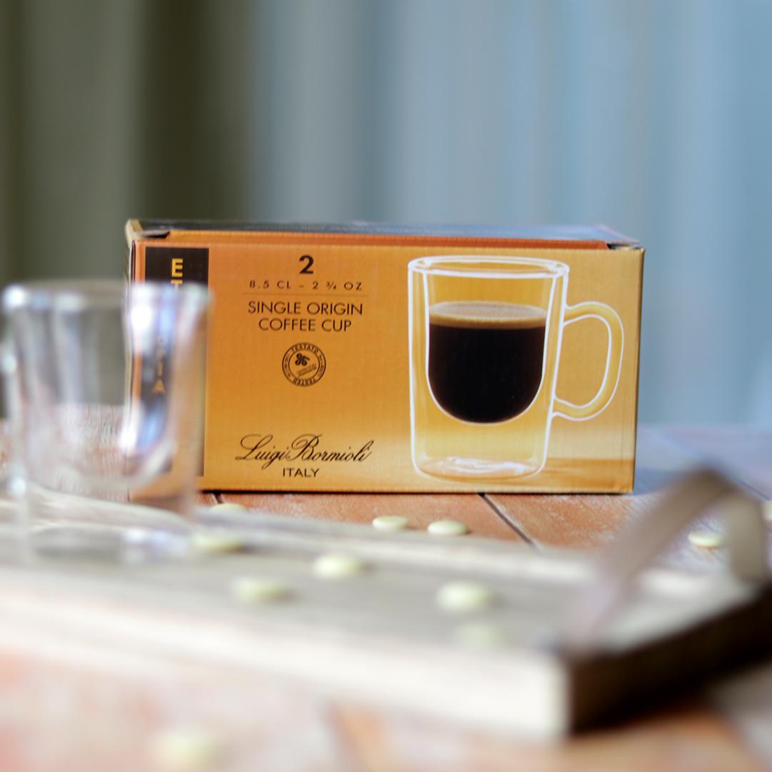 Duplafalú espresso kávéscsésze szett - hőálló és extra könnyű üveg