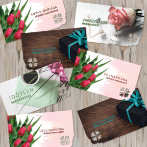 Ajándék kísérőkártya - ajándékkártya