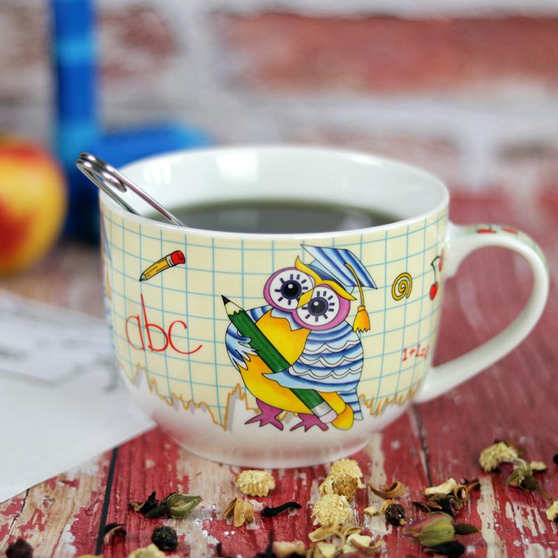 Baglyos kávés - teás óriás bögre gyerekeknek