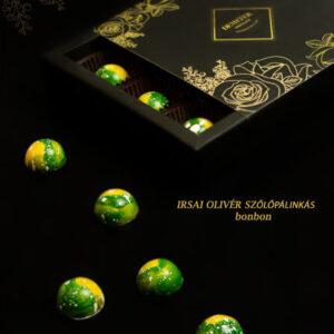 Irsai Olivér szőlőpálinkás alkoholos bonbon - kézműves bonbon - Demeter csoki