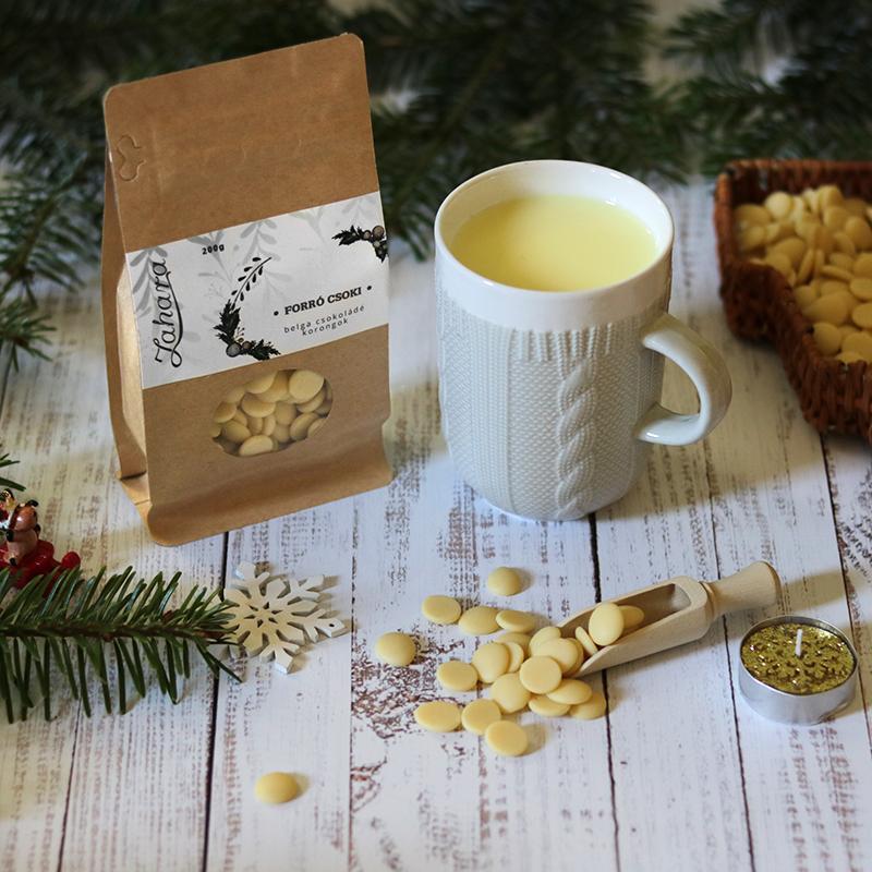 Zahara karácsonyi forró csoki kötött pulcsis bögrével