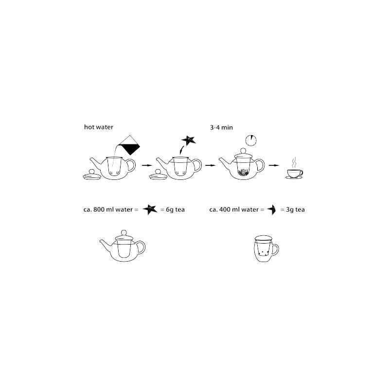 karácsonyi formázott szálas tea válogatás doboz ajándék
