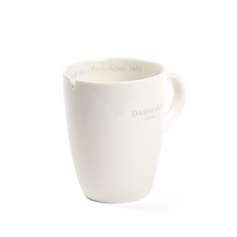 Kávés bögre, teás bögre, fehér kerámia - Damman