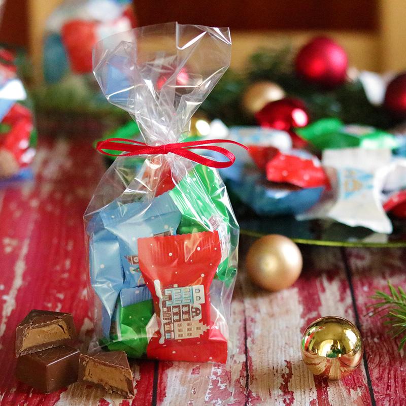 Karácsonyi csoki csomag - bonbon, mogyorós praliné