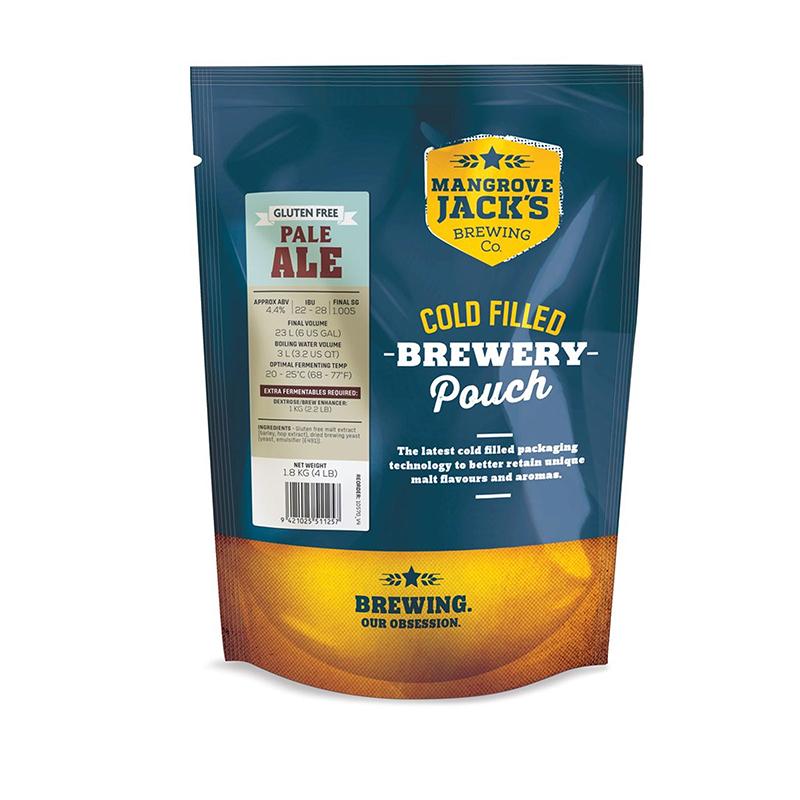 Mangrove Jacks gluténmentes angol pale ale sörsűrítmény, instant sör, házisör