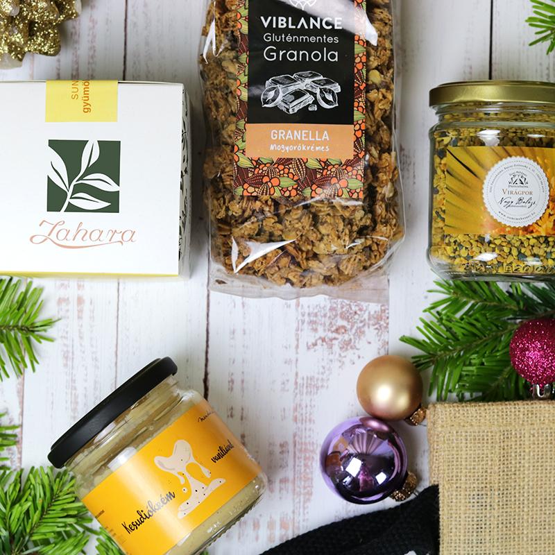Immunerősítő karácsonyi gasztroajándék egészség ajándékcsomag