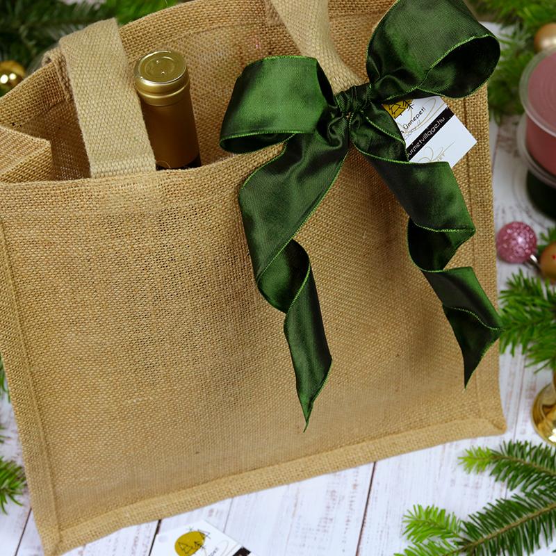 Juta táska karácsonyi ajándékcsomag - Gourmet Village gasztroajándék