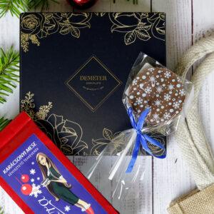 Kézműves csokoládé bonbon ajándékcsomag - karácsonyi gasztroajándék