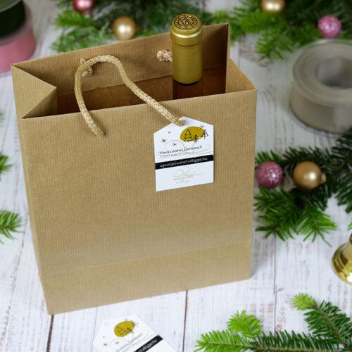 Karácsonyi papír táska, papír ajándéktasak
