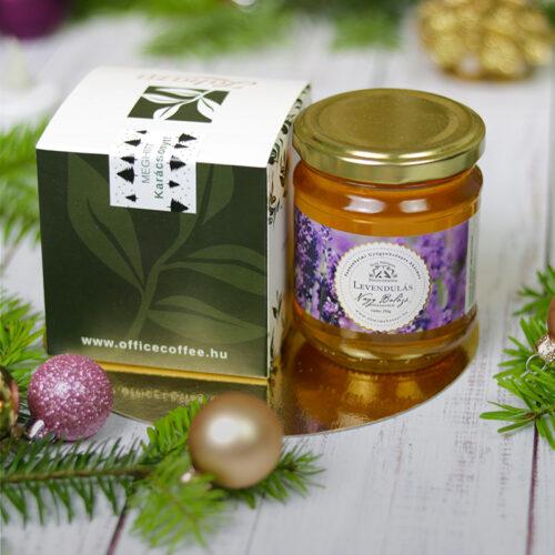 Karácsonyi tea és méz karácsonyi gasztroajándék, ajándékcsomag