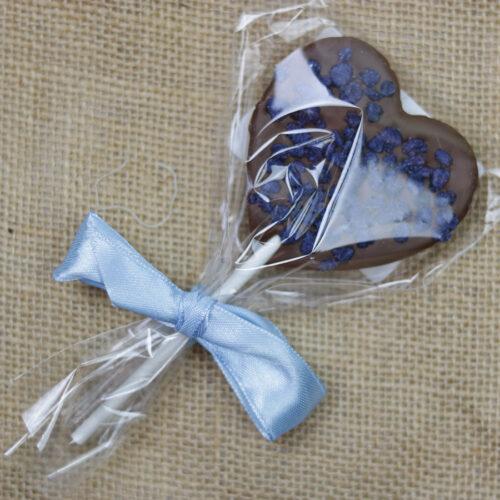 Szív alakú levendulás csokinyalóka