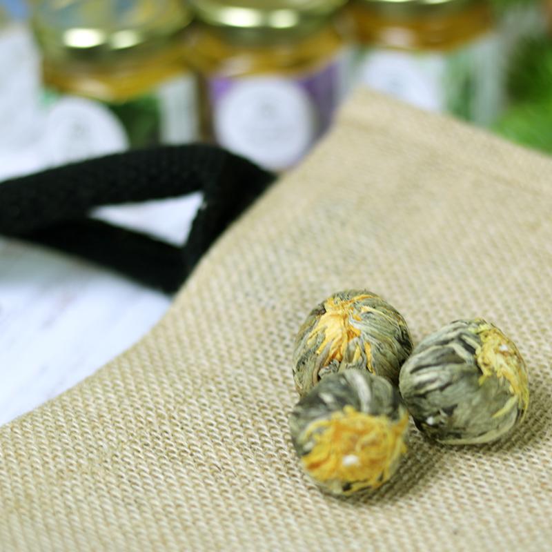 Virágzó tea golyó - tea válogatás ajándékcsomag