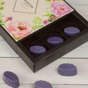 levendulás kézműves bonbon - Demeter - fehárcsokis bonbon - csoki bonbon - csokoládé ajándék
