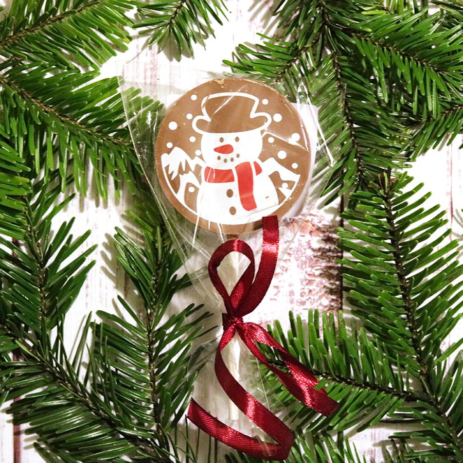 Karácsonyi csokinyalóka hóemberes