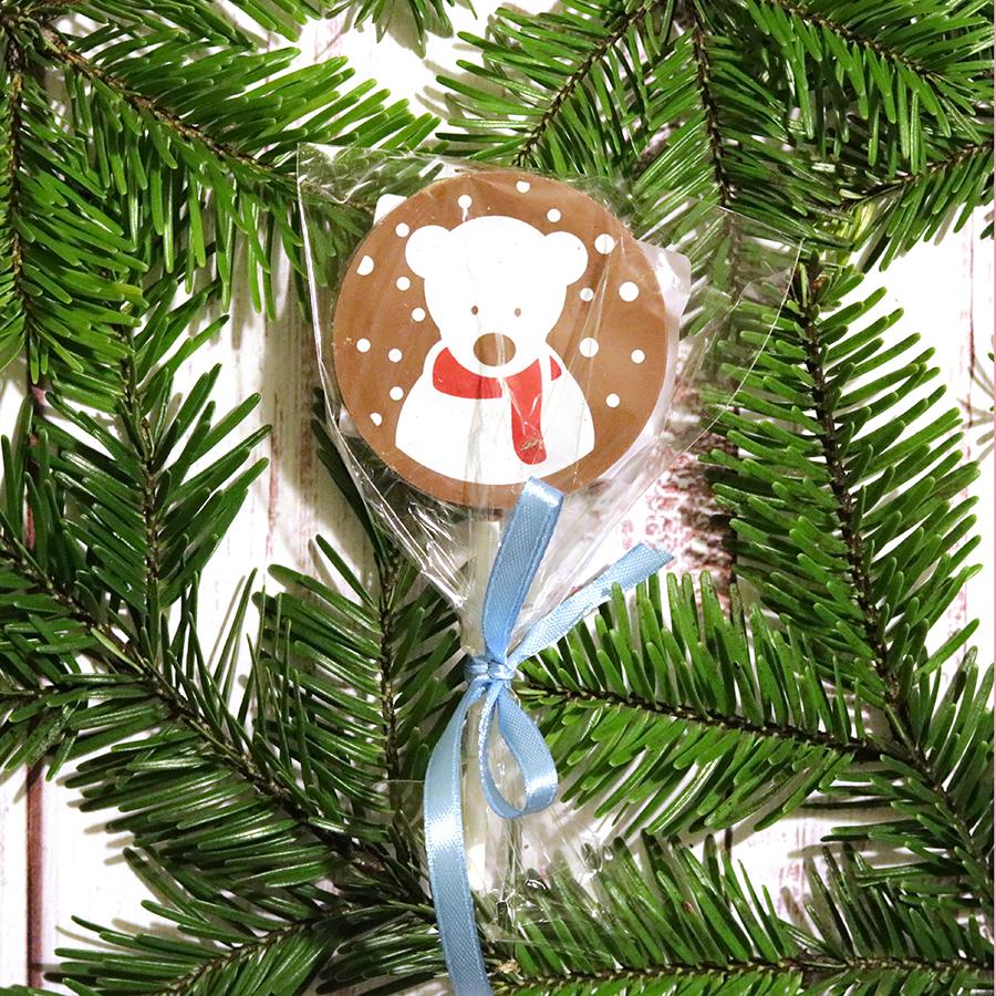 Karácsonyi csokinyalóka macis