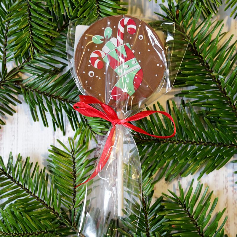 Karácsonyi csokinyalóka Mikulás zoknis