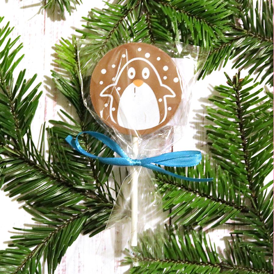 Karácsonyi csokinyalóka pingvines