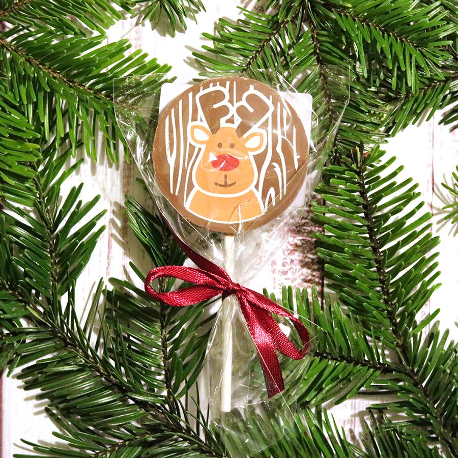 Karácsonyi csokinyalóka Rudolf rénszarvasos