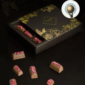 málna pálinkás kézműves alkoholos bonbon - Demeter - csoki bonbon ajándék - gasztroajándék - csokoládé ajándék férfiaknak
