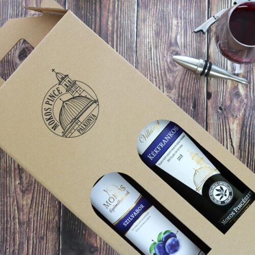 Díszdobozos Mokos villányi bor válogatás - szilvabor és kékfrankos