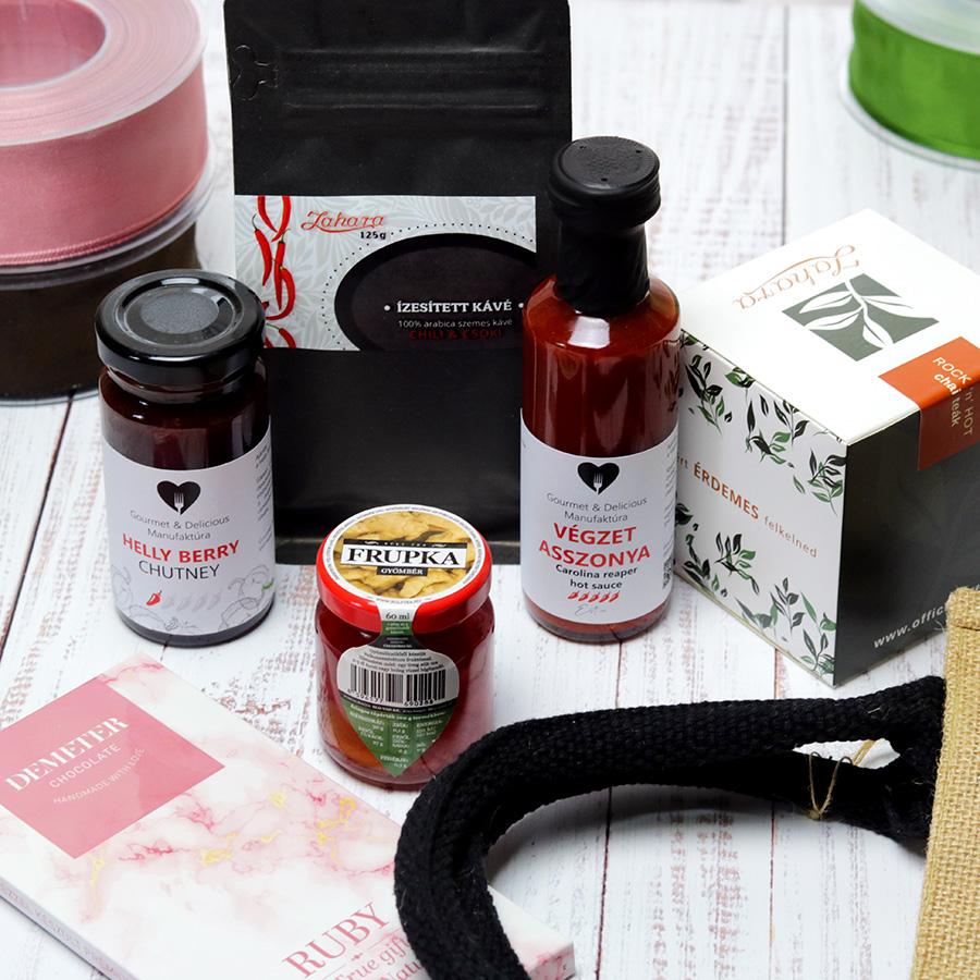 Ruby 'n' hot chili ajándékcsomag - gasztroajándék válogatás