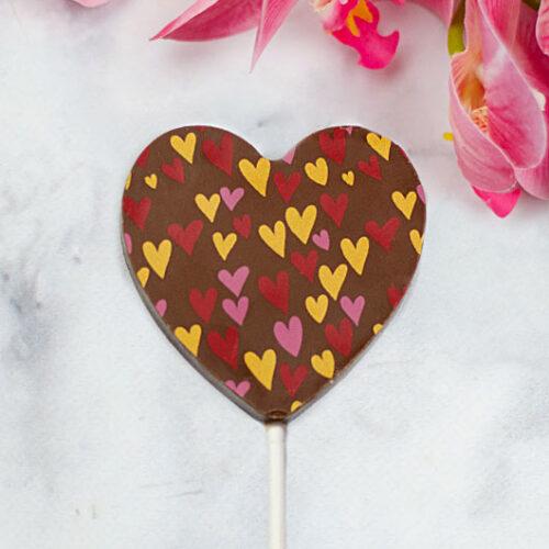 Szív alakú csokinyalóka Valentin napra