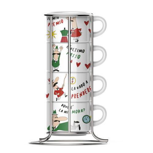 bialetti cappuccino bögre csésze szett állvánnyal