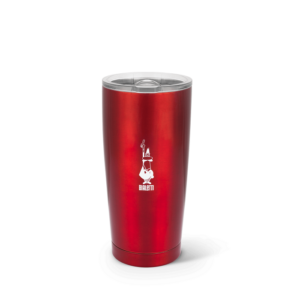 Acél Termosz pohár, kávés, teás termosz bögre - Bialetti piros