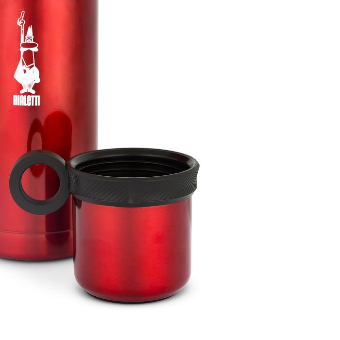 bialetti kávé tea rozsdamentes acél fém termosz kulacs piros
