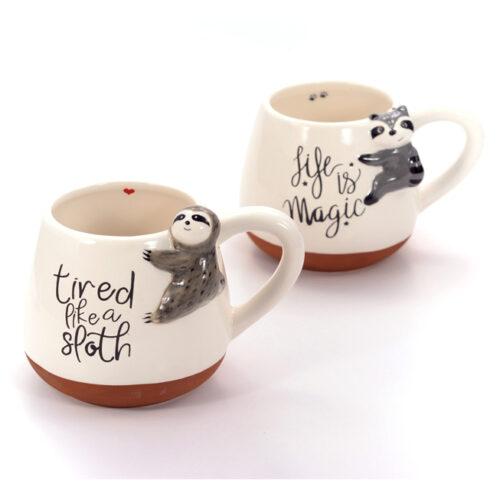 Lajáros, mosómedvés 3d teás, kávés bögre szett