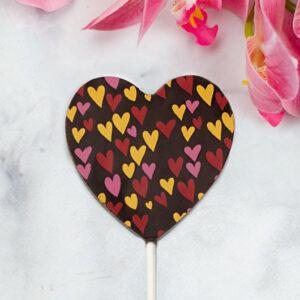 szív alakú étcsokinyalóka kézműves csoki Valentin napra