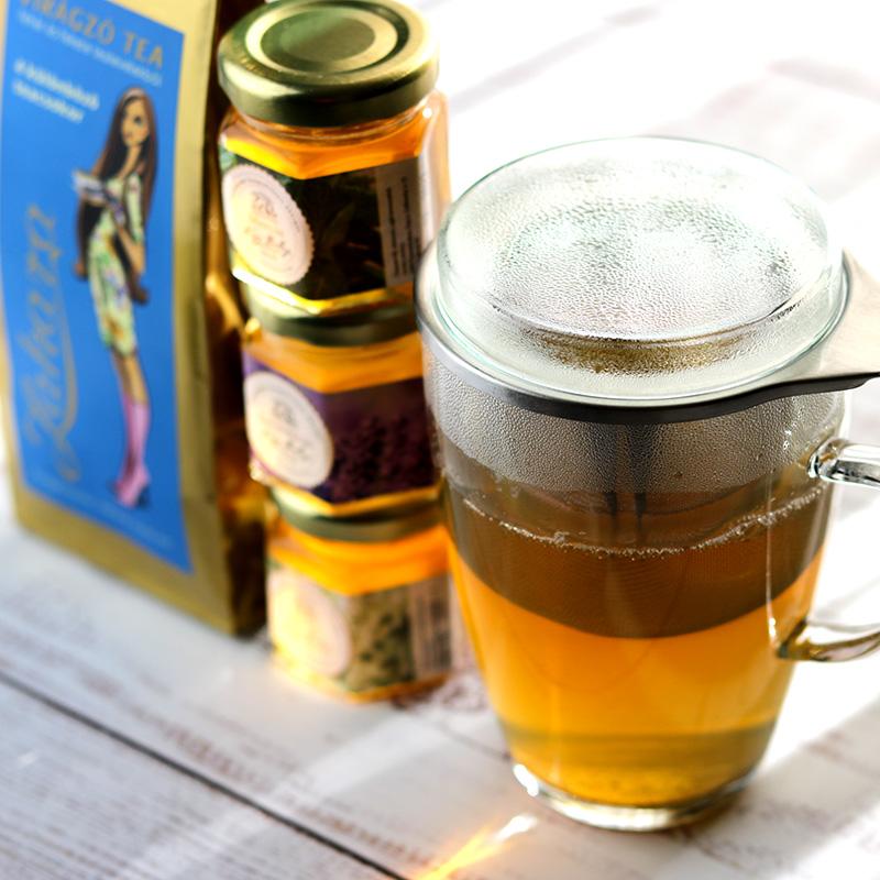 Virágzó tea és méz ajándékcsomag