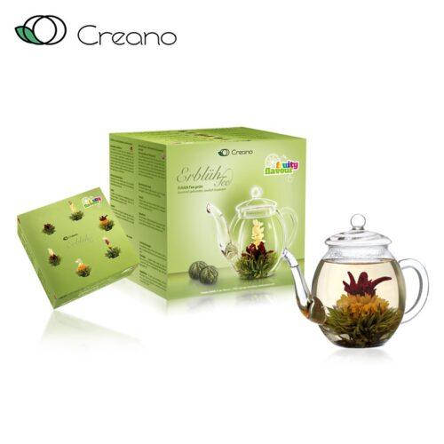 Virágzó tea szett - zöld tea ajándékcsomag
