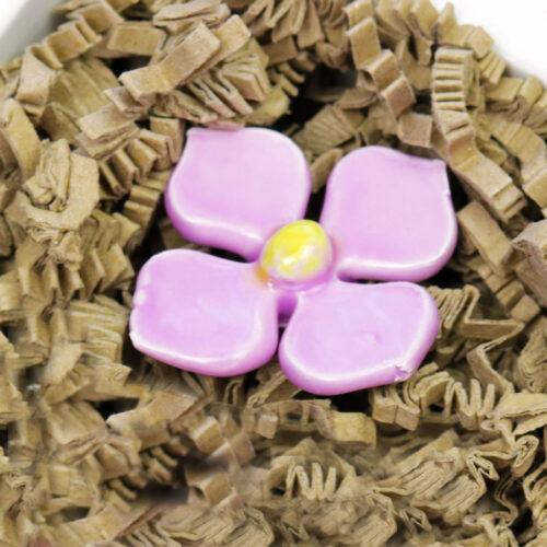 Kerámia virág - lila hortenzia szál