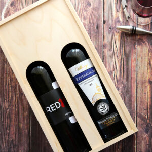Mokos villányi száraz vörös bor válogatás fadobozban - Redy cuveé és kékfrankos